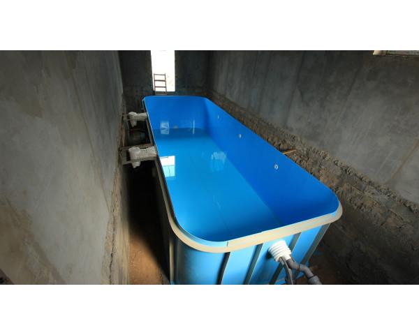 Полипропиленовый бассейн в доме