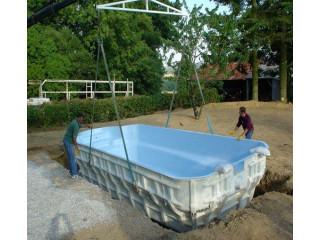 Как устанавливается композитный бассейн